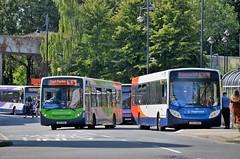 Busy Basingstoke.... (stavioni) Tags: stagecoach single decker bus basingstoke south adl alexander dennis enviro 200 300 27833 gx62buv gx62bnl 36839 36923 36922 yx63gye yx63gyf public transport
