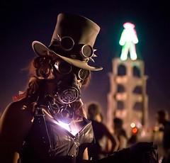 Steampunk Decade (Trey Ratcliff) Tags: treyratcliff stuckincustoms stuckincustomscom burningman mask goggles hat steampunk portrait fashion