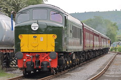 D8 (ANDY'S UK TRANSPORT PAGE) Tags: trains rowsley peakrail class44 brgreen