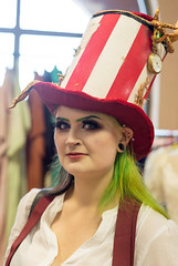 The Lady in the Hat (daveseargeant) Tags: steampunk festival 2019 whitby north yorkshire street portrait candid nikon df 50mm 18g seaside coastal sea hat cosplay