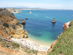 Praia Dona Ana (Kaeko) Tags: lagos beach resort portugal europe vacation travel holiday donaana praiadonaana people coast rock trip algarve