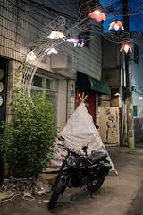 Alley Art (ep_jhu) Tags: 광주 teepee x100f art daein korea fujifilm gwangju alley dark fuji nightmarket night 한국 motorcycle lights motora donggu southkorea