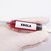 Injection needle with Ebola text