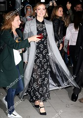 9212971j (sandwellalex87) Tags: aol build speaker series new york usa 08 nov 2017 olivia wilde wearing giamba black silver embellished bow print pattern patterned sheer see through long dress pointed pointy toe toed ankle strap straps heels heeled heel shoes grey pastel light blue checked check double breasted breast duster coat fashion actor alone female fulllength personality outabout 65747211