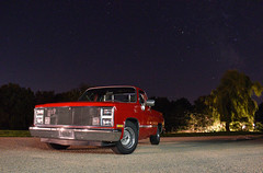 Christine (Jacob Narup) Tags: gmctruck gmc gmcc1500 truck pickup pickuptruck night nightexposure nighttime 1986 stars classictruck classic