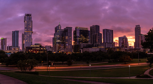 Sunrise Panoramic of Downtown Austin