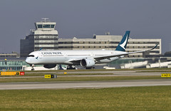 Cathay Pacific A350 (Infinity & Beyond Photography: Kev Cook) Tags: cathay pacific hongkong airlines airways airbus a350 aircraft airplane airliner ringway airport manchester man egcc planespotting photos planes
