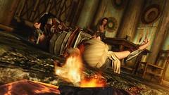 Lay down. (Ai Kato Hanami) Tags: skyrim tesv realvisionenb imperial legion armor breezhome whiterun fire ai kato light