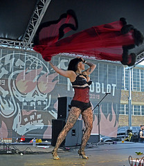 The Dom (tacosnachosburritos) Tags: motoblot gritty urban street photography thestreets fashion woman girl chick lady sexy hot summer festival rally skimpy clothes crowd mob city themasses pinup 50's rocker sm leather legs arms babe dominatrix dom