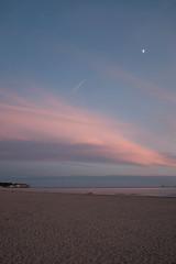 beach (xophe_g) Tags: saintgeorgesdedidonne x100f dusk moon beach sunset