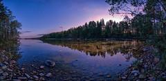 Bright morning day (Kari Siren) Tags: bay clear water lake karijarvi jaala finland