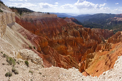 Cedar Breaks National Monument, Utah, USA (swissuki) Tags: canyon cedarbreaks clouds nature national monument mountain largelandscape landscape sky usa ut utah