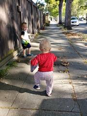 Following Paul (quinn.anya) Tags: paul eliza toddler walking sidewalk