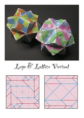 "Origami, Sonobe variations, ""四角い模様"". (Masaya2012) Tags: sonobe kusudama modular modularorigami sonobevariation stellatedicosahedron smalltriambicicosahedron くす玉 薗部 ユニット 折り紙 アレンジ"