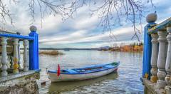 Gölyazı (korkutcompany) Tags: gölyazı bursa turkey lake boat hdr tree blue sky