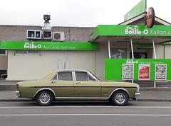 1971 Ford Fairmont (stephen trinder) Tags: stephentrinder stephentrinderphotography aotearoa godzone kiwi 1970s seventies 1971 ford fairmont green kaiapoi bottlestore offlicense