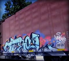 steel (timetomakethepasta) Tags: steel msk d30 freight train graffiti art ns boxcar norfolk southern