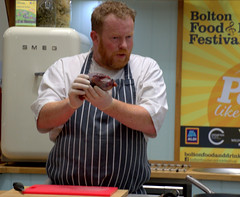 Chef Robert Owen Brown at Bolton Food Festival 2019 (Tony Worrall) Tags: boltonfoodfestival2019 bolton food festival 2019 ffodfestival event chefs cook cooking men annual show nw northwest north update place location uk england visit area attraction open stream tour country item greatbritain britain english british gb capture buy stock sell sale outside outdoors caught photo shoot shot picture captured ilobsterit instragram demo stage market
