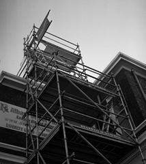 The Tower Of Scaffold (Haruhara_Izzy) Tags: yashica mat 124g ilford hp5 cinestill df96 du dunedin