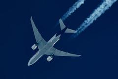 Fedex Boeing 777-FS2 N864FD (Thames Air) Tags: fedex boeing 777fs2 n864fd contrails contrailspotting