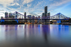 brisbane sunset (Greg M Rohan) Tags: nikon d750 nikkor 2018 bridge blue sunset lights brisbaneriver storybridge brisbanecity australia brisbane queensland building skyline architecture clouds skyscraper buildings cityscape skyscrapers