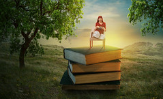 Summer Reading (Malcolm Hare Photography and Tuition) Tags: fantasy sun hss reading book