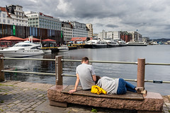 """Just relaxing"" (Terje Helberg Photography) Tags: bench boats buildings candid chill citylife cityscape citywalk clouds cobbelstones fence harbor harbour outdoor outside people relaxing sea seaside sky skyline street streetphotography streetlife urban waiting yacht outdoors architecture town"