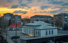 Sunset in Torez. (denkuznets81) Tags: town torez architecture sunset donbass sky cityscape city город закат небо донбасс торез архитектура