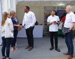 Chefs Michael Caines, Simon Wood and Mike Harrison at Bolton Food Festival 2019 (Tony Worrall) Tags: boltonfoodfestival2019 bolton food festival 2019 ffodfestival event chefs cook cooking men annual show nw northwest north update place location uk england visit area attraction open stream tour country item greatbritain britain english british gb capture buy stock sell sale outside outdoors caught photo shoot shot picture captured ilobsterit instragram chefsmichaelcaines simonwood mikeharrison