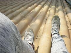 roof (Mattia Monti) Tags: asics roof shoes feet top sneakers chill scarpe piedi tetti