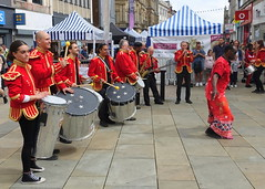 Musical fun at Bolton Food Festival 2019 (Tony Worrall) Tags: entertainment actors fun event show annual acts outdoors candid people costume bolton boltonfoodfestival nw northwest north update place location uk england visit area attraction open stream tour country item greatbritain britain english british gb capture buy stock sell sale outside caught photo shoot shot picture captured ilobsterit instragram band music red sounds dance group musical