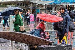 """The Rain Collector"" (Terje Helberg Photography) Tags: candid citylife cityscape citywalk outdoor outside people rain street streetphotography streetlife umbrella umbrellas urban travel standing women tourism tourist"