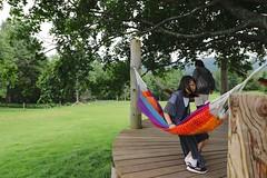 SAKURAKO rests in the tree hammock - Hoshino Resort TOMAMU. (MIKI Yoshihito. (#mikiyoshihito)) Tags: 星野リゾート トマム 星野リゾートトマム hoshino resort tomamu japan hokkaido 北海道 hoshinoresorttomamu sakurako 櫻子 さくらこ 娘 daughter サクラコ 長女 10歳10ヶ月 eldestdaughter
