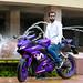 Film director Borhan Khan with his Bike Yamaha YZF R15 V3 at Radisson Blu