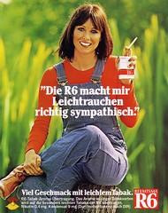Reemtsma R6 (1978) Symphatisch Leichtrauchen (H2O74) Tags: reemtsma r 6 r6 leicht leichte leichtrauchen rauchen raucher rauchering smoke smoker woman girl frau mädchen sympatisch 1977 1978 1979 70er 70s 1970er 1970s dont taste tasty geschmack siebziger h2o h2o74 werbung werbungen reklame reklamen anzeige anúncio anzeigen antigo antik alt classic rot grün red green ad advertising advert advertisement ads adverts advertisment deutschland deutsch german germany tabak tabake tobac tobacco tobakko tobaco brünette blauäugig blueeyed blaue augen zigarette zigaretten cigar cigarettes cigarette würzig aroma
