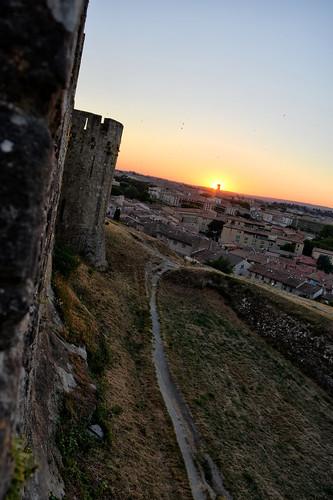 Vue des remparts de la Cité, Carcassonne