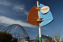 Nickelodeon Land Sign with Revolution (CoasterMadMatt) Tags: blackpoolpleasurebeach2019 pleasurebeachblackpool2019 blackpoolpleasurebeach pleasurebeachblackpool pleasurebeach pleasure beach blackpool 2019season amusementpark themepark amusement theme park parks englishamusementparks amusementparksinengland nickelodeonland nickelodeon land sign revolution steelrollercoaster steel rollercoaster rollercoasters roller coaster coasters blackpoolsrollercoasters englishrollercoasters rollercoastersinengland inversion loop verticalloop ride rides lancashire lancs fyldecoast northwestengland northwest england britain greatbritain unitedkingdom uk gb europe february2019 winter2019 february winter 2019 coastermadmattphotography coastermadmatt photography photographs photos nikond3200