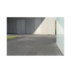 The cobblestone street.  Pamplona. (José Luis Cosme Giral) Tags: minimalism urbannature peripherallandscapes urbanspace grass sky concrete thecobblestonestreet light shadow glass sony pamplona