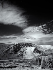 Wicklow Mountains IR (kckelleher11) Tags: 2019 ir ireland olympus august bw black clouds em5 infrared mountains omd white wicklow mzuiko 1250mm