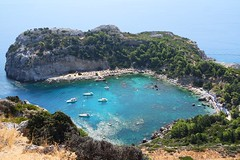 Colours of Nature (TimeaT.) Tags: greece dodecanese rhodes island anthonyquinnsbay bay sea beach summer view onthetop colours