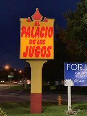 El Palacio de los Jugos Sign Miami (Phillip Pessar) Tags: el palacio de los jugos sign miami