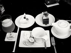 Tea Time (-Faisal Aljunied - !!) Tags: faisalaljunied wembleyhotel penang malaysia tea lemon cakes cocktail blackandwhite