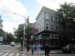 2019 Downtown West Village White Horse Tavern 9004 (Brechtbug) Tags: 2019 downtown westside nyc west village white horse tavern w 11th street hudson st new york city current location manhattan pulp pop culture funnies stores collectable facade store front display window windows organization business books news newspaper paper papers under ground side 08242019 august neon sign