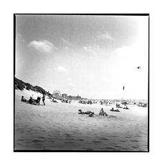 berck plage (michel lebedel) Tags: berck beach soleil square sea sun argentique analogique film ilford400 hasselblad 500cm 120 6x6