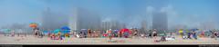 haze at Coney Island (eraneran70) Tags: eran bendheim panorama haze cloud sea beach people nyc coney island sun swimsuite bikini nikon p1000