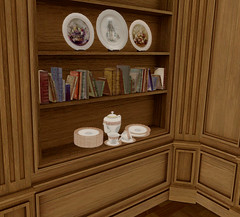 Close Look 1 (Aksanka93Resident) Tags: elfico penso villa sunny lombardia sense event gacha decor plate servise book second life 3d furnitere wood panel