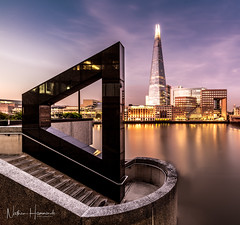 The Shard at blue hour! (Nathan J Hammonds) Tags: the shard london uk england thames architecture buildings blue hour long exposure nikon irex 15mm sunrise lee filters soft grad nd summer morning early start water smooth lights city cityscape
