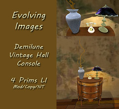 Demilune Half Round Ad (Evolving Images) Tags: sl second life blog blogger virtual decor furniture home