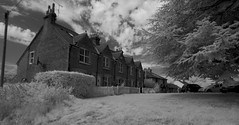 Cottages in Chorleywood Bottom (IanAWood) Tags: 720nminfrared chorleywood digitalinfrared hertfordshire nikkorafs1224mmf4gdx nikond70ir thechilterns walkingwithmynikon
