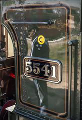 Reflections on a Railway (powern56) Tags: gloucestershire lydney lydneyjunction deanforest forestofdean deanforestrailway 5541 gwr greatwesternrailway prairietank steamlocomotive railway railwaystation heritagerailway reflection